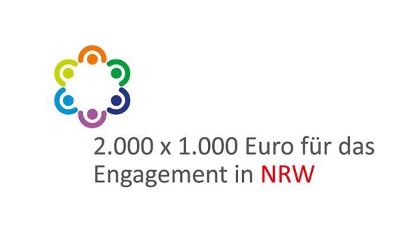 Logo: 2000 x 1000 Euro für das Engagement in NRW
